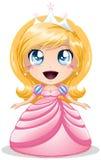 白肤金发的公主In Pink Dress 免版税库存照片