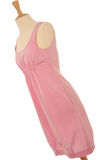 Pink Dress on Mannequin. Contemporary pink evening dress on a Mannequin as it would displayed in a shop royalty free stock images