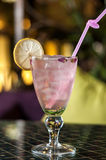 Pink drink with lemon Royalty Free Stock Photography