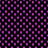 Pink drops on a dark background seamless pattern Stock Photo