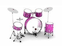 Pink drum kit Stock Photo