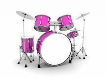 Pink drum set Royalty Free Stock Photos