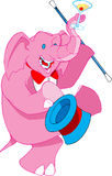 Pink drunk elephant with a top Stock Photography