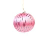 Pink dull christmas ball. Royalty Free Stock Photos