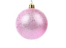 Pink dull christmas ball Royalty Free Stock Image