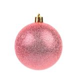 Pink dull christmas ball Stock Photos