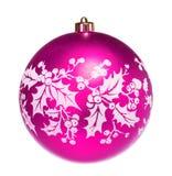 Pink dull christmas ball Stock Image