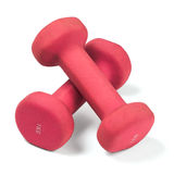 Pink dumbbells Royalty Free Stock Photos