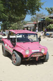 Pink Dune Buggy Jericoacora Brazil Royalty Free Stock Photography