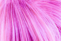 Pink dyed hair. Close up of pink dyed hair Stock Photos