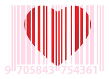 Pink ean and heart Royalty Free Stock Photo