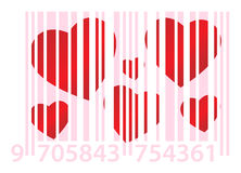 Pink ean and hearts Royalty Free Stock Image