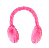 Pink ear-muffs Stock Images