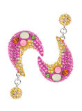 Pink earring Stock Photo