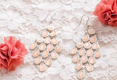 Pink earring Royalty Free Stock Photography