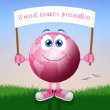 Pink earth for breast cancer prevention Stock Photos
