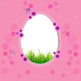 Pink Easter background with egg royalty free illustration