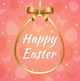 Pink Easter background Royalty Free Stock Images