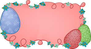 Pink easter banner Royalty Free Stock Photography