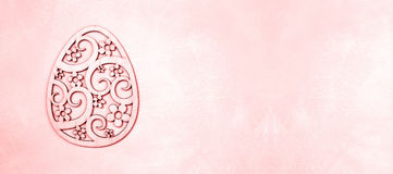 Pink Easter banner Royalty Free Stock Photos