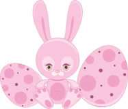 Pink Easter bunny Stock Images