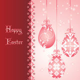 Pink Easter card Royalty Free Stock Photography