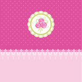 Pink easter card  illustration Stock Photography