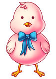 Pink Easter Chicken Cartoon Character Royalty Free Stock Image