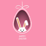 Pink easter design and rabbit background eps 10  illustrat Royalty Free Stock Photography