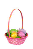 Pink Easter egg basket Royalty Free Stock Photo
