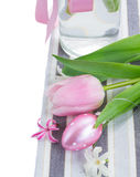 Pink easter egg with flowers Stock Image