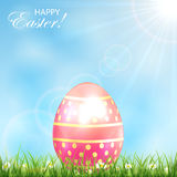 Pink Easter egg in a grass Royalty Free Stock Photography