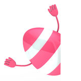 Pink easter egg wave hands Royalty Free Stock Photo