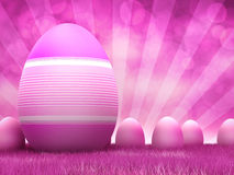 Pink easter eggs Stock Image