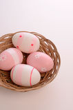 Pink Easter eggs Royalty Free Stock Photo