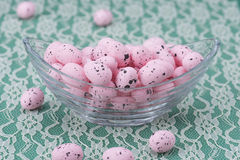 Pink Easter eggs Royalty Free Stock Photos