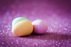Pink easter greeting card Royalty Free Stock Photography