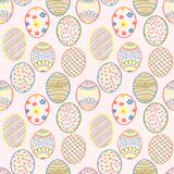 Pink Easter Seamless Stock Images