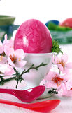 Pink Easter Still Life Stock Photography