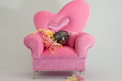 Pink Easy Chair Stock Photo