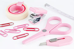 Pink educatoin tools Stock Photos
