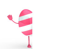 Pink egg wave hand Royalty Free Stock Image