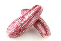 Pink eggplants on white Royalty Free Stock Image