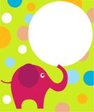 Pink Eilephant On Colorful Background Royalty Free Stock Image