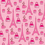 Pink elegant bright wallpaper Stock Images