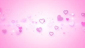 Pink elegant hearts Royalty Free Stock Image