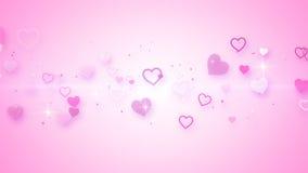 Pink elegant hearts Royalty Free Stock Image