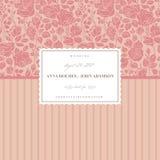 Pink elegant wedding card Royalty Free Stock Photos