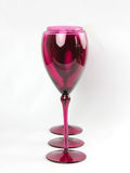 Pink Elegant Wine Glasses Stock Images
