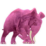 Pink Elephant - 04. Pink Elephant thinks he might hurl Royalty Free Stock Photo
